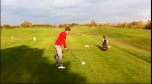 Golfer Driving with the R15 Taylormade Driver